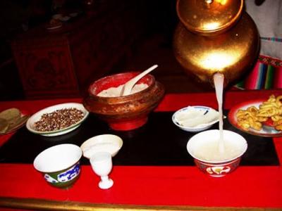Mongolian milk tea