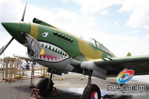 著名的p-40飞机——飞虎队用机