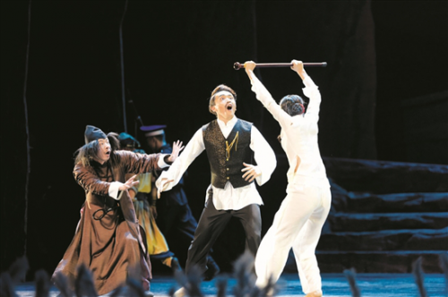 A new dance drama staged in Baotou Grand Theatre