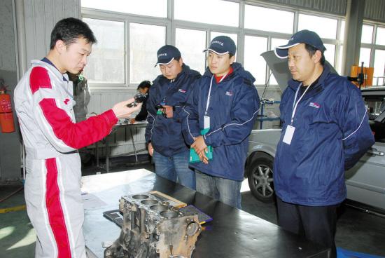 自治区汽车维修技能竞赛在包举行